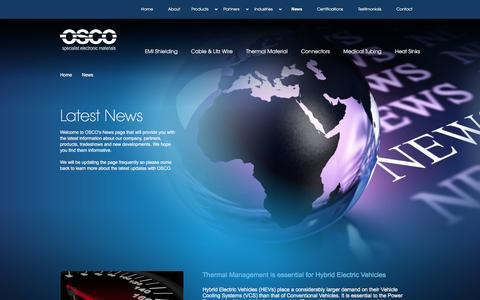 Screenshot of Press Page osco.uk.com - News   Osco - captured Feb. 22, 2016