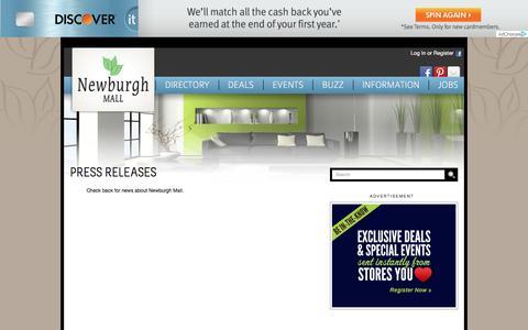 Screenshot of Press Page newburghmall.com - Newburgh Mall ::  Press Room - captured June 9, 2016