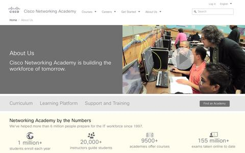 Screenshot of About Page netacad.com - About Cisco Networking Academy | Cisco NetAcad - captured Aug. 21, 2016