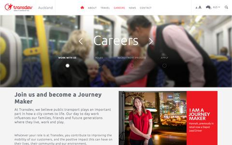 Screenshot of Jobs Page transdev.co.nz - Work With Us - captured Oct. 20, 2017
