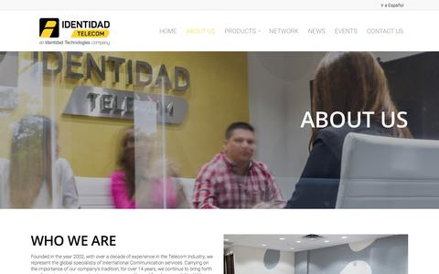 Screenshot of About Page identidadtelecom.net - About Us - Identidad Telecom - captured July 13, 2018