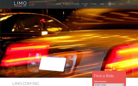 Screenshot of About Page limo.com - Limousine Company History, About Us and Biography | Limo.com - captured Sept. 23, 2014