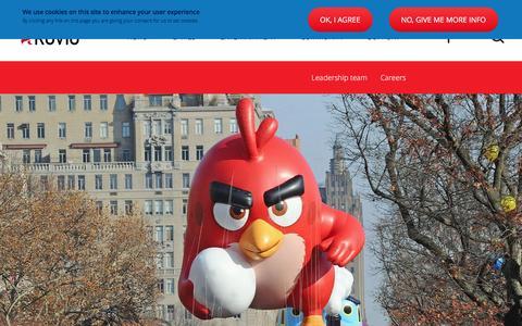 Screenshot of About Page rovio.com - About us | Rovio.com - captured Dec. 18, 2015