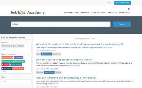 HubSpot Knowledge Search | HubSpot Academy
