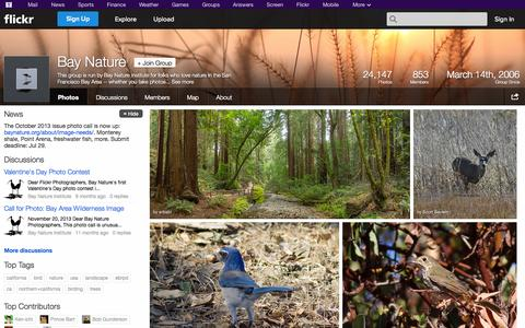 Screenshot of Flickr Page flickr.com - Flickr: The Bay Nature Pool - captured Oct. 23, 2014