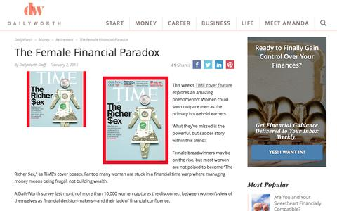 The Female Financial Paradox | DailyWorth