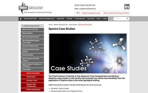 Screenshot of Case Studies Page hrhgeology.com - Spectra Advanced Gas Analysis Case Studies | HRH Geology - captured July 10, 2016