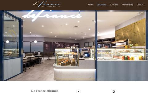 Screenshot of Locations Page defrance.com.au - Defrance Provincial Bakery, French Baking | New South Wales - captured Oct. 6, 2018