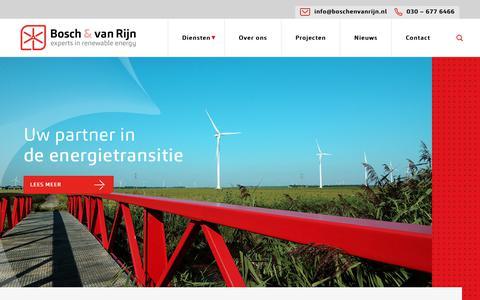 Screenshot of Home Page boschenvanrijn.nl - Bosch & Van Rijn, adviesbureau voor windenergie in Nederland - captured Oct. 10, 2017