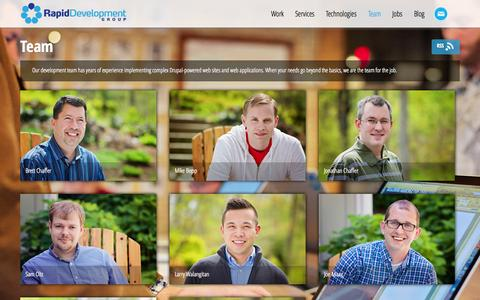 Screenshot of Team Page rapiddg.com - Team | Rapid Development Group | Grand Rapids, Michigan - captured Sept. 25, 2014