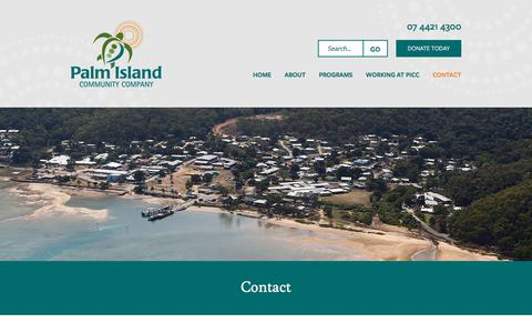 Screenshot of Contact Page picc.com.au - Contact «  Palm Island Community Company - captured July 13, 2017