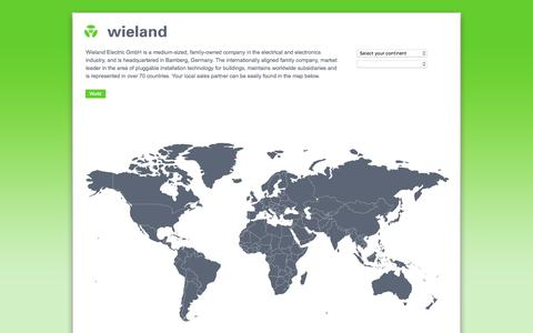 Screenshot of wieland-electric.com - Wieland Electric - captured Sept. 20, 2018