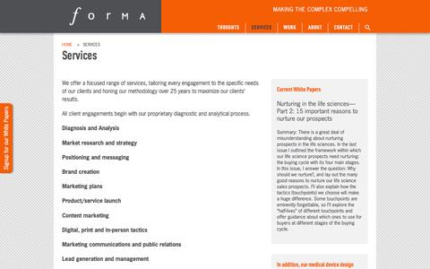 Services | Forma Life Science Marketing