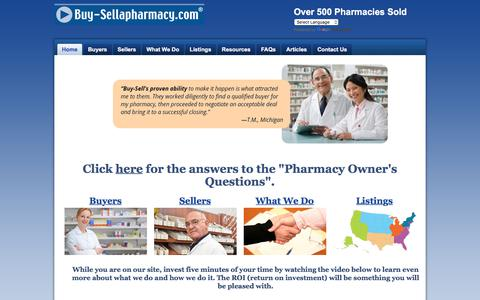 Screenshot of Home Page buy-sellapharmacy.com - Buy-SellaPharmacy.com - Buying and Selling a Pharmacy - captured Oct. 11, 2017