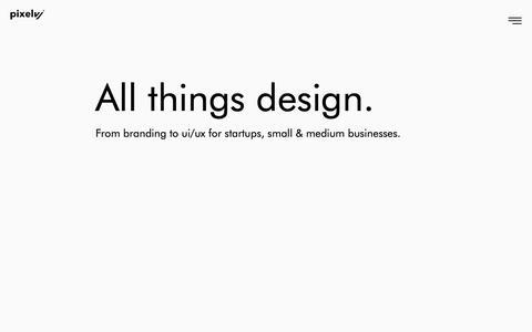 Screenshot of Home Page pixelvj.com - PixelVJ - Web Design, Branding, Digital and UI/UX Agency in India - captured Sept. 28, 2018