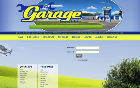 Screenshot of Login Page garagewichita.com - User Log In - captured Nov. 3, 2014