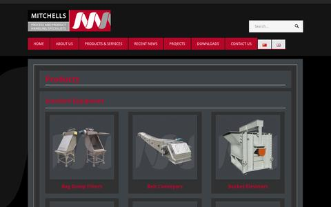 Screenshot of Products Page mitchells.net.cn - Products - Mitchells Equipment (Hebei) Co Ltd - captured Oct. 26, 2014