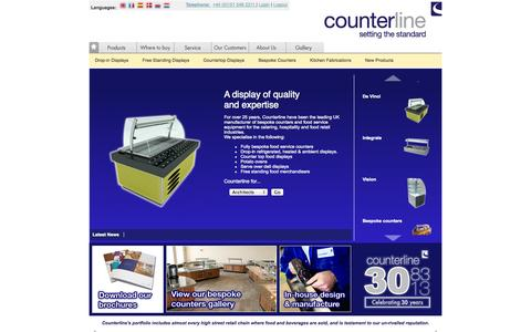 Screenshot of Home Page counterline.co.uk - Counterline | setting the standard - captured Oct. 3, 2014
