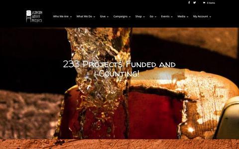 Screenshot of Home Page ugandanwaterproject.com - Ugandan Water Project - captured Aug. 2, 2015