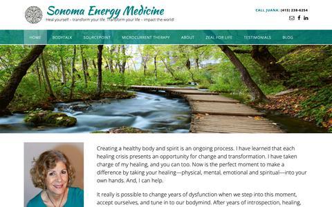 Screenshot of Home Page sonomaenergymedicine.com - Sonoma Energy Medicine - Home 2019 - captured Nov. 8, 2018