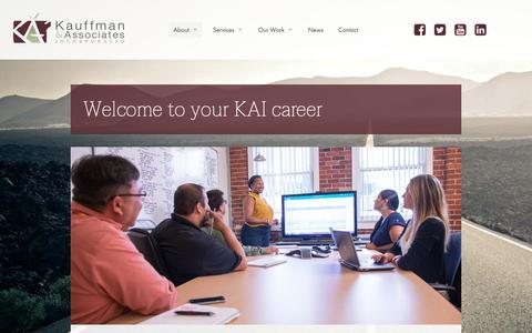 Screenshot of Jobs Page kauffmaninc.com - Careers | Kauffman and Associates - captured Oct. 15, 2018