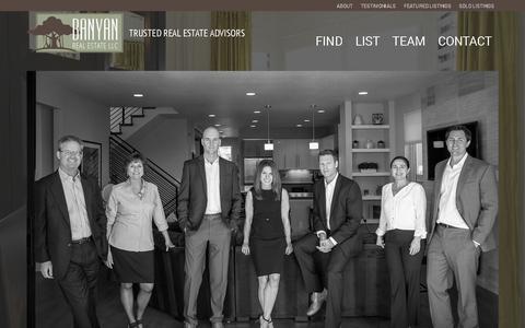 Screenshot of Team Page banyanrealestate.com - Team | Banyan Real Estate LLC - captured Feb. 7, 2016