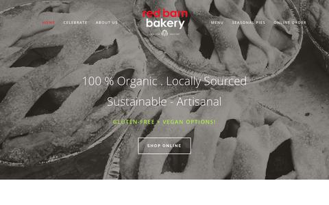 Screenshot of Home Page redbarn-bakery.com - Red Barn Bakery - captured Sept. 20, 2018