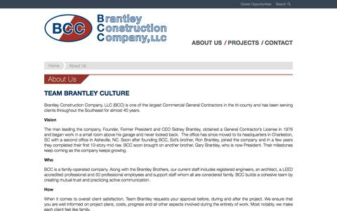 Screenshot of About Page brantleyconstruction.com - About Us - Brantley Construction - captured Oct. 10, 2019
