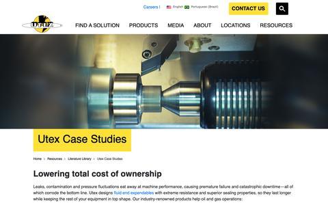 Screenshot of Case Studies Page utexind.com - Utex Case Studies | Utex Industries - captured Oct. 3, 2018