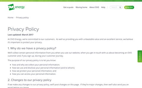 Privacy Policy   OVO Energy