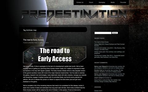 Screenshot of Maps & Directions Page predestinationgame.com - map | Predestination – an indie space 4X game - captured Nov. 3, 2014