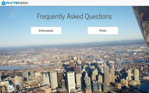 Screenshot of FAQ Page flytenow.com - FAQ - Flytenow - captured Sept. 16, 2014
