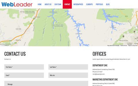 Screenshot of Contact Page webleader.co - WebLeader |   CONTACT - captured Oct. 26, 2014