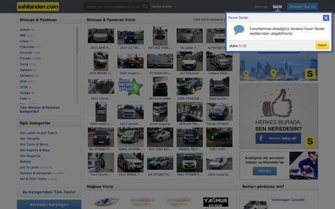 İkinci El Minivan, Panelvan ve Camlıvan, Sıfır Satılık Van grubu husisi ve ticari araçlar sahibinden.com'da