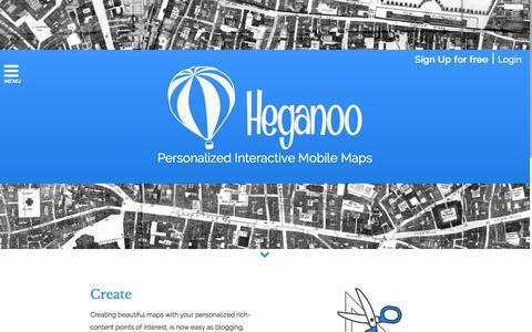 Screenshot of Home Page heganoo.com - Heganoo - captured Sept. 29, 2014