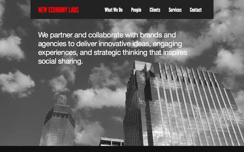 Screenshot of Home Page neweconomylabs.com - New Economy Labs - captured Oct. 9, 2014