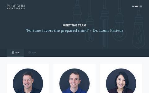Screenshot of Team Page brv.com - Team | Blue Run Ventures - captured Sept. 30, 2015