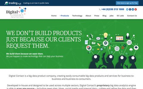 Screenshot of Products Page digitalcontact.co.uk - Products | Digital Contact - captured Jan. 7, 2016
