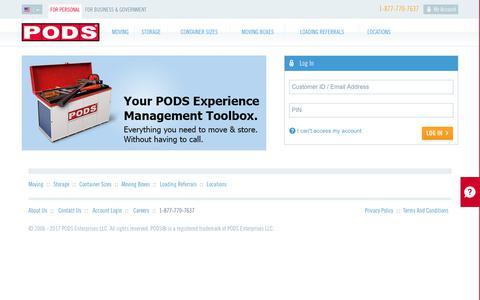 Login | pods.com