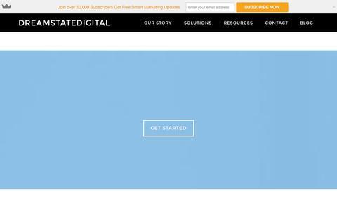 Screenshot of Home Page dreamstatedigital.com - Digital Marketing Agency|Inbound Marketing|Content Marketing| Seo| Social Media Marketing - captured Sept. 23, 2014
