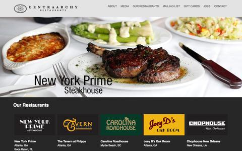 Screenshot of Home Page centraarchy.com - CentraArchy | Restaurant Management Company - captured Nov. 14, 2015