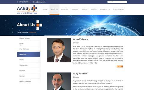 Screenshot of Team Page aabsys.com - Leadership - AABSyS - captured Oct. 2, 2018