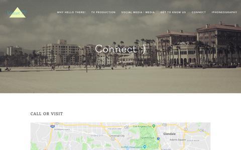 Screenshot of Contact Page kismettv.com - Connect — Kismet TV - captured Nov. 6, 2018