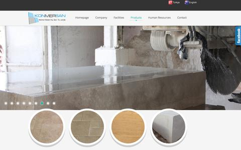 Screenshot of Products Page konmersan.com - Products - Konmersan Mermer Madencilik - Konmersan Marble - Karaman - Türkiye - captured Feb. 27, 2018