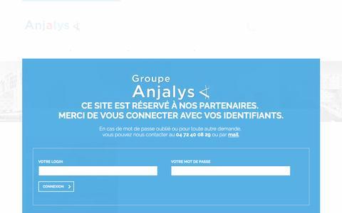 Screenshot of Terms Page anjalys.fr - :: Anjalys Groupe :: gestion Immobilière et du patrimoine à Lyon - captured May 28, 2017