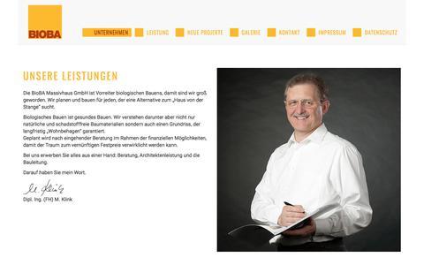 Screenshot of Home Page bioba.de - BioBA Massivhaus GmbH - captured June 11, 2018