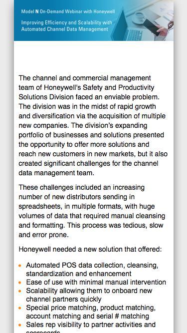 Honeywell On-Demand Webinar