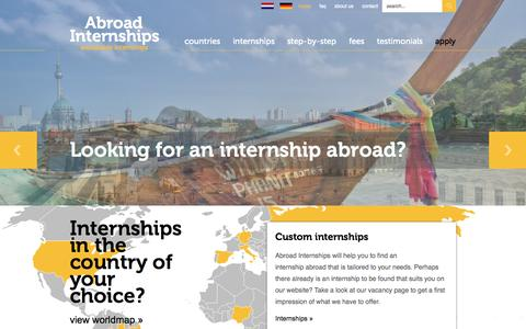 Screenshot of Home Page abroad-internships.com - Abroad Internships| Abroad Internships - captured Sept. 30, 2014