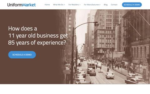 Screenshot of About Page uniformmarket.com - About US - Uniform E-Commerce Platform Provider - UniformMarket - captured Oct. 20, 2018
