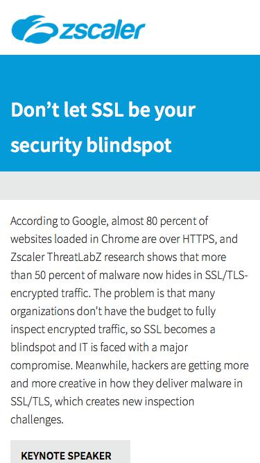 Don't let SSL be your security blindspot  Zscaler